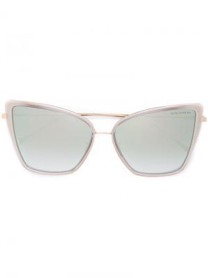 Солнцезащитные очки Sunbird Dita Eyewear. Цвет: металлический