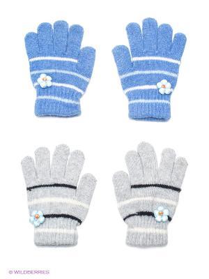 Перчатки 2 пары FOMAS. Цвет: синий, серый