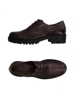 Обувь на шнурках ANGELA GEORGE. Цвет: голубиный серый