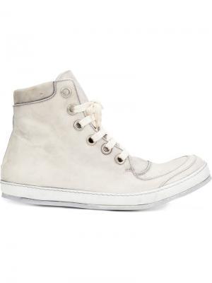 Хайтопы на шнуровке A Diciannoveventitre. Цвет: белый