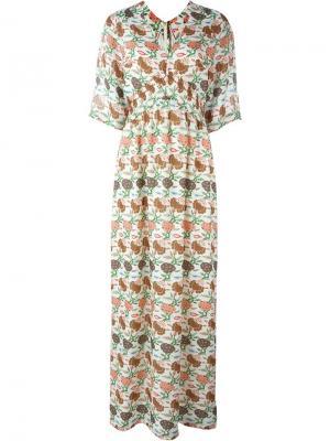 Платье Antiquity Tory Burch. Цвет: многоцветный
