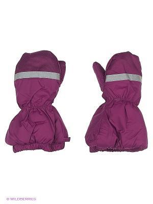 Варежки детские Cherubino. Цвет: фиолетовый