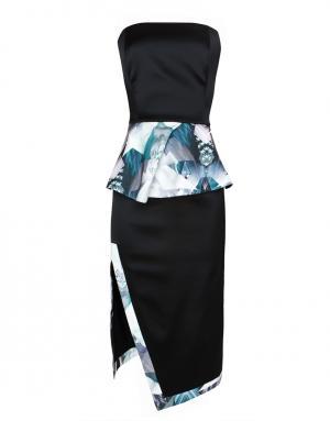 Шелковое платье LUBLU Kira Plastinina. Цвет: черный