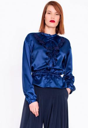 Блуза LO. Цвет: синий