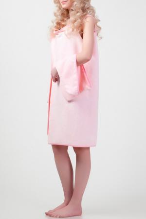Халат-полотенце BRADEX. Цвет: розовый