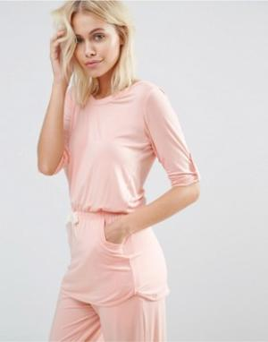 Heidi Klum Intimates Топ с короткими рукавами Rise & Swing. Цвет: розовый