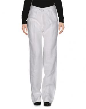 Повседневные брюки NOLITA. Цвет: белый