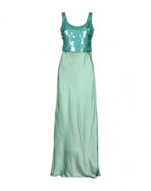 Длинное платье MOSCHINO CHEAP AND CHIC. Цвет: светло-зеленый