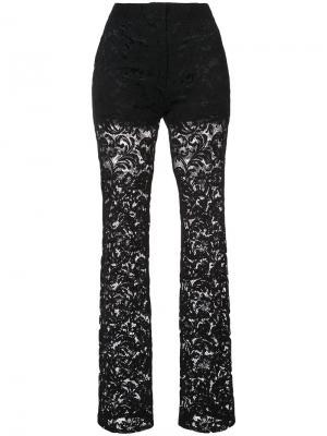 Кружевные брюки Adam Lippes. Цвет: чёрный