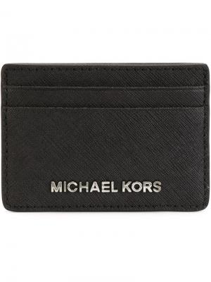 Визитница Jet Set Travel Michael Kors. Цвет: чёрный