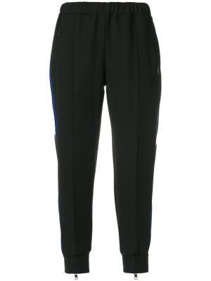 Укороченные спортивные брюки с полосками Être Cécile. Цвет: чёрный