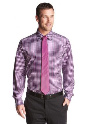 Рубашка в клетку STUDIO COLETTI. Цвет: лиловый в клетку
