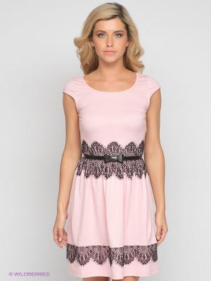Платье V&V. Цвет: розовый, черный