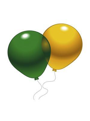 10 шариков (разноцв. кристалл) Everts. Цвет: зеленый
