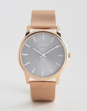 Limit Часы с сетчатым браслетом и розово-золотистым покрытием эксклюзи. Цвет: золотой