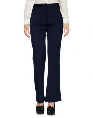 Повседневные брюки SELF-PORTRAIT. Цвет: темно-синий