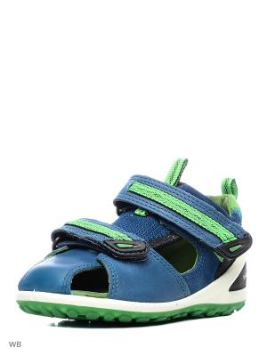 Сандалии ECCO. Цвет: голубой, зеленый, синий