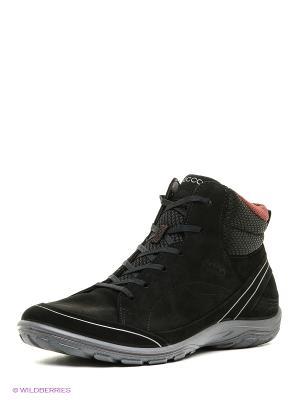 Ботинки ECCO. Цвет: черный, оранжевый