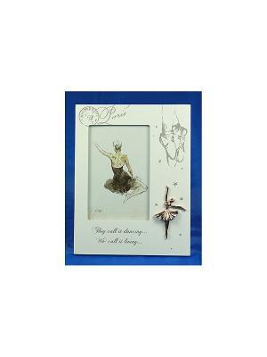 Фоторамка Балерина для фото 10*15см Русские подарки. Цвет: белый