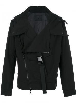 Куртка со смещенной застежкой-молнией D.Gnak. Цвет: чёрный