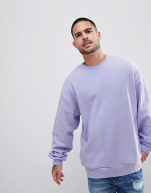 ASOS Oversize-свитшот сиреневого цвета. Цвет: фиолетовый
