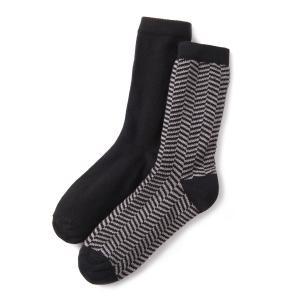 2 пары носков La Redoute Collections. Цвет: черный/ серебристый