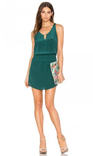 Мини платье majorelle Rory Beca. Цвет: зеленый