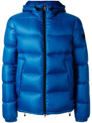 Куртка с капюшоном Peuterey. Цвет: синий
