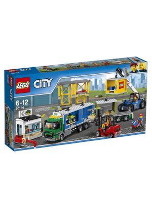 City Town Грузовой терминал 60169 LEGO. Цвет: синий
