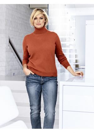 Пуловер PATRIZIA DINI by Heine. Цвет: бежевый, красный, лиловый, мандариновый, светло-коричневый, серо-коричневый, серый меланжевый, синий, цвет белой шерсти, цикламен, черный