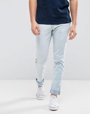 Blend Выбеленные джинсы скинни. Цвет: синий