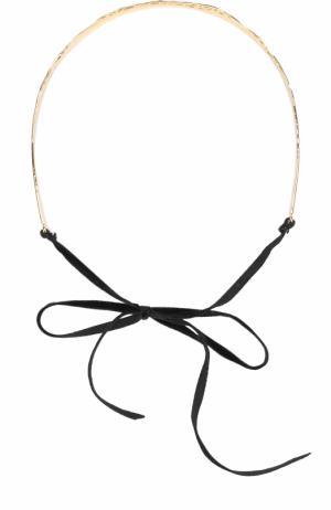 Повязка для волос Colette Malouf. Цвет: золотой