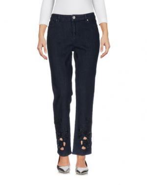 Джинсовые брюки ELIE TAHARI. Цвет: синий