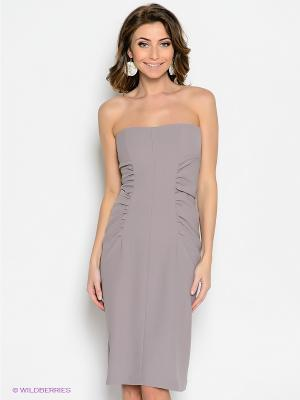 Платье Levall. Цвет: темно-бежевый