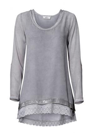Комплект: блузка + топ Linea Tesini. Цвет: лавандовый