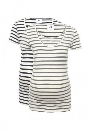 Комплект футболок 2 шт. Mamalicious. Цвет: белый