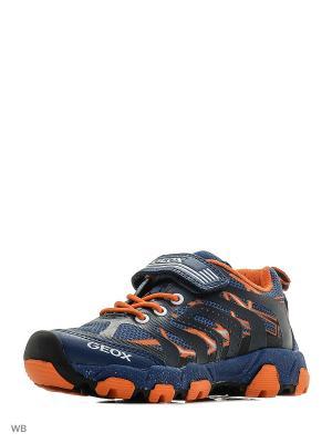 Кроссовки GEOX. Цвет: синий, оранжевый, темно-синий