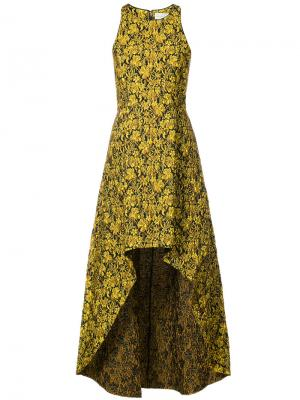 Платье Emerald с неравномерным подолом Sachin & Babi. Цвет: жёлтый и оранжевый