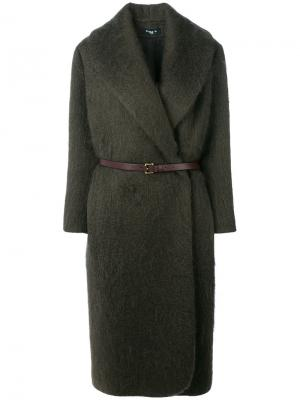 Пальто строгого кроя Paule Ka. Цвет: серый