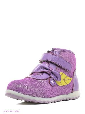 Ботинки Зебра. Цвет: сиреневый