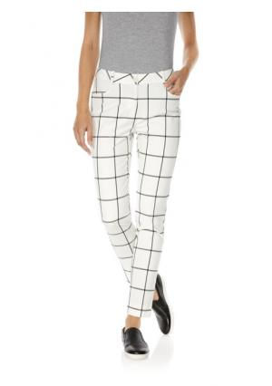 Моделирующие брюки ASHLEY BROOKE by Heine. Цвет: молочно-белый/черный
