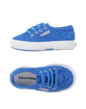 Низкие кеды и кроссовки SUPERGA®. Цвет: синий