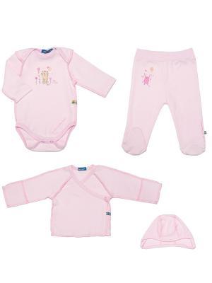 Комплект одежды на выписку для девочки SNO KATT. Цвет: розовый
