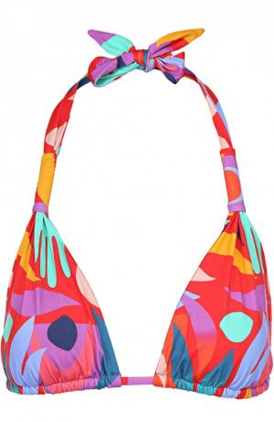 Треугольный бра с ярким принтом Lazul. Цвет: разноцветный