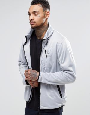 Your Own Куртка на молнии с отделкой декоративным кантом. Цвет: серый