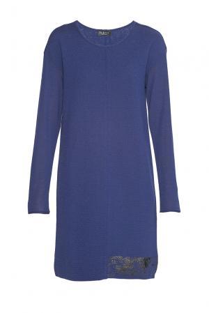 Платье из шерсти 179754 Baroni. Цвет: синий