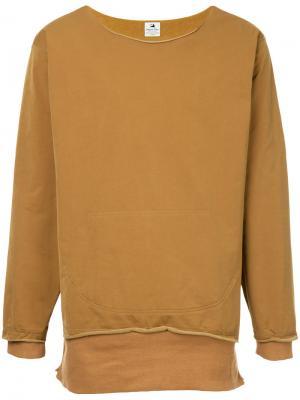 Классический свитер Sasquatchfabrix.. Цвет: жёлтый и оранжевый