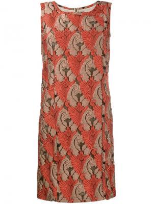Платье Mila Emilia Wickstead. Цвет: жёлтый и оранжевый
