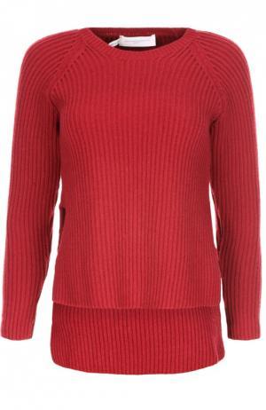 Вязаный пуловер Aquilano Rimondi. Цвет: красный