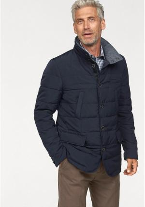 Стеганая куртка STUDIO COLETTI. Цвет: темно-синий